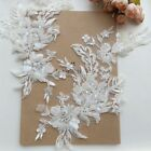 Lace Applique Beaded Sequins Luxury Bridal Grown Floral Patches Sewing On Collar