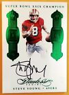 STEVE YOUNG-2016 Flawless EMERALD (#1 2) AUTO AUTOGRAPH GEM-MINT? 1 1 Type