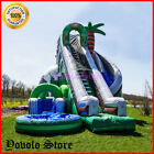 26x20ft Commercial Inflatable Jungle Water Slide  Pool With Air Blower Outdoor