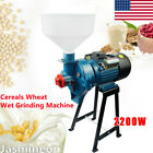 Electric Feed Flour Mill Cereals Grinder Corn Wheat Wet Grinding Machine 2200W