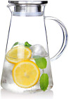 20 Liter 68 Ounces Glass Pitcher With Lid Iced Tea Pitcher Water Jug Hot Cold