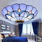 Tiffany Style Stained Glass Vintage Ceiling Light Dining Room Lamp Flush Mount