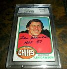 Len Dawson Cards, Rookie Card and Autographed Memorabilia Guide 43