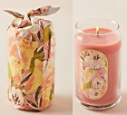Anthropologie ILLUME Beautiful Wrapped Glass Candle Red Berry Amber 125 oz