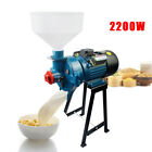 22KW Wet Refiner Electric Grain Corn Wheat Cereals Grinding Mill + Funnel 110V