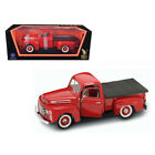 1948 Ford F 1 Pickup Truck with Bed Cover Red 1 18 Diecast Model Car by Road