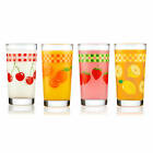 Libbey Vintage Juice Glasses 11 ounce Assorted Set of 4