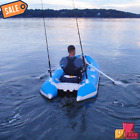 Catamaran Style 1 Person Inflatable Fishing Boat