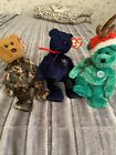 3 Beanie Babies In Holiday 2002, Hero And Sparks