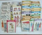 Lot of 40 Vintage Sewing Patterns 1970s Womens Wedding Dress Sleep Most Size 14
