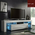 Modern Minimalist TV Cabinet Living Room With High gloss LED Lights TV Cabinet