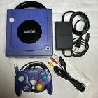 Gamecube Violet Purple Console System  Controller Set Nintendo +cable Used