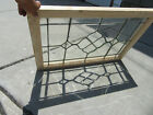 ANTIQUE FULL BEVELED LEADED GLASS TRANSOM WINDOW 36 x 24 SALVAGE