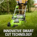 Smart Cut Greenworks 40V 20in Cordless Innovative Lawn Mower Batteries Included