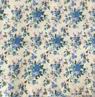 10 Yards Poly cotton ditsy flower  leaf fabric X44 Wide vintage style print