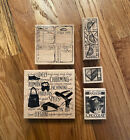 Lot of 5 Limited Edition Club Scrap Rubber Stamps  2004  2005