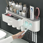 2 3 4 Cup Toothbrush Holder Automatic Toothpaste Squeezer Dispenser Storage Rack