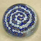 Collectible Art Glass Millefiori Swirl Multiple Colors Paperweight Home Office