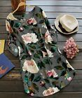 CELLABIE Gray Rose Roll Tab Sleeve Shift Dress L Picture color NEW