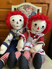 Raggedy Ann And Andy Dolls Hand Made Clothing 27 In Tall 43 For Set