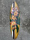 HIBISCUS SURFBOARD AIR BRUSH DESIGN TROPICAL SIGN WALL HANGING ART HOME DECOR