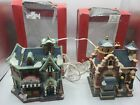 2004 Lemax Christmas Village Collection Lighted Hampton Grocery Brewster Police