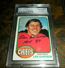 Len Dawson Cards, Rookie Card and Autographed Memorabilia Guide 31
