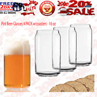 Ecodesign Drinkware Libbey Beer Glass Can Shaped 16 oz Pint Beer Glasses 16oz