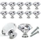 30mm Clear Crystal Glass Door Knobs Cupboard Cabinet Handle Drawer Pull w Screw