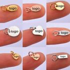 50pcs Stainless Steel Mini Disc Custom Logo Stamping Tags Necklace Women Jewelry