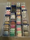 Cross Stitch Thread Material and Hoops Lot