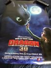 How to Train Your Dragon movie poster 3-D 27x40 2 Sided