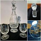 waterford crystal decanter with two brandy snifters