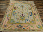8x10 Vege dyed Turkish Oushak Transitional Hand knotted wool Oriental area rug