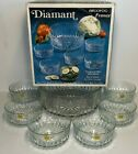 Diamant 7 Piece Tempered Glass Salad Bowl Set by Arcoroc Imported from France