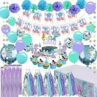 Mermaid Party Supplies Girls Birthday Party Decorations Contain a Mermaid