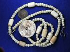 STRAND OF EARLY GLASS TRADE BEADS SHELL and BONE BEADS CALIFORNIA