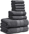 Craft Native 100 Pure Ring Spun Cotton Towels Set Grey 500 GSM  Value Pack