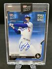 2020 Topps Now World Series Auto Autograph Corey Seager BLUE 49 Dodgers MVP