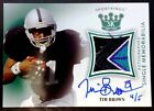 TIM BROWN-2018 Sportkings GREEN (#4 5) 4-COLOR LOGO PATCH AUTO AUTOGRAPH