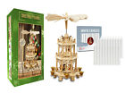 German Christmas Carousel Pyramid Windmill 18 inches 20 White Candles Included