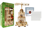 German Christmas Pyramid Carousel Windmill 18 inches with 20 White Tree Candles