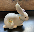 Lladro Attentive Bunny Rabbit with Flowers - RARE!