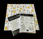 NEW Stampin Up Snailed It Cling Foam Stamp Set Matching Dies DSP Bundle