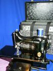 Vintage 1940 Scroll front Singer 221 featherweight Sewing Machine serviced +
