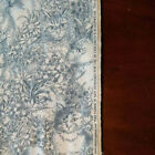 Daisy Kingdom Cat Flannel Toile Cotton Fabric Blue White 32 yds VTG OOP HTF