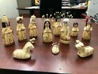 Nativity Set 14 Pieces Clay Figurines Christmas Made in Mexico Handpainted