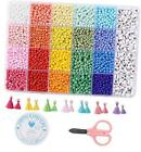 Jewelry Making Kit 4 mm Glass Seed Beads for DIY Bracelet 4mm rainbow beads