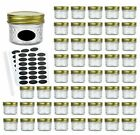 Glass Jars With Regular Lids Mini Wide Mouth Mason Jars Clear Small Canning 4Oz