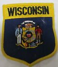 Wisconsin State Flag Embroidered 50 Pc Patch 3 x 35 inch Emblem Iron on
